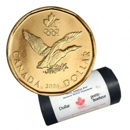 2006 Canadian $1 Olympic Lucky Loonie Dollar Original Coin Roll
