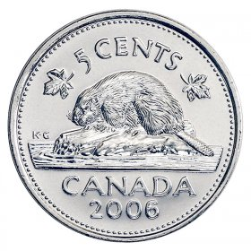2009 CANADA 5 CENTS PROOF SILVER NICKEL HEAVY CAMEO COIN
