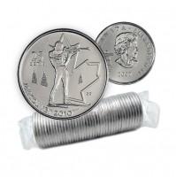 2007 Vancouver 2010 Olympics 25-cent Biathlon Original Coin Roll