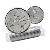 2007 Vancouver 2010 Olympics 25-cent Curling Original Coin Roll