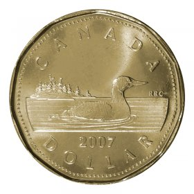 2007 Canadian $1 Common Loon Dollar (Brilliant Uncirculated)