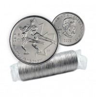 2008 Vancouver 2010 Olympics 25-cent Figure Skating Original Coin Roll