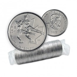 2008 Canada Vancouver 2010 Olympics 25-cent Figure Skating Original Coin Roll