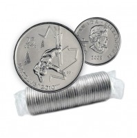 2008 Vancouver 2010 Olympics 25-cent Freestyle Skiing Original Coin Roll