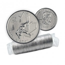 2008 Canada Vancouver 2010 Olympics 25-cent Freestyle Skiing Original Coin Roll
