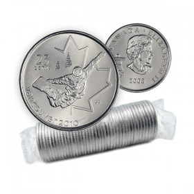 2008 Canadian 25-Cent Vancouver 2010 Olympics: Snowboarding Quarter Original Coin Roll
