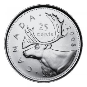 2008 Canadian 25-Cent Caribou Quarter Coin (Brilliant Uncirculated)