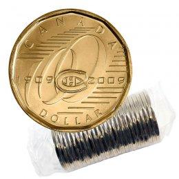 2009 (1909-) Canadian $1 Montreal Canadiens Centennial Loonie Dollar Original Coin Roll