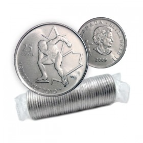 2009 Vancouver 2010 Olympics 25-cent Speed Skating Original Coin Roll
