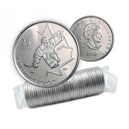 2009 Vancouver 2010 Paralympics 25-cent Ice Sledge Hockey Original Coin Roll