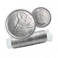 2009 Canada Golden Moments 25-cent Men's Hockey 2002 Original Coin Roll (Non-Coloured)