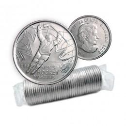 2009 Canadian 25-Cent Golden Moments: Men's Ice Hockey Quarter Original Coin Roll (Non-Coloured)