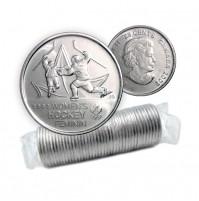 2009 Canada Golden Moments 25-cent Women's Hockey 2002 Original Coin Roll (Non-Coloured)