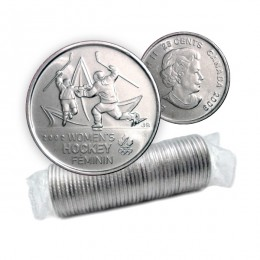 2009 Canadian 25-Cent Golden Moments: Women's Ice Hockey Quarter Original Coin Roll (Non-Coloured)