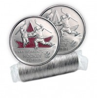 2009 Canada Golden Moments 25-cent Women's Hockey 2002 Original Coin Roll (Some Coloured)