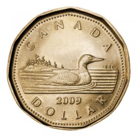 2009 Canadian $1 Common Loon Dollar (Brilliant Uncirculated)