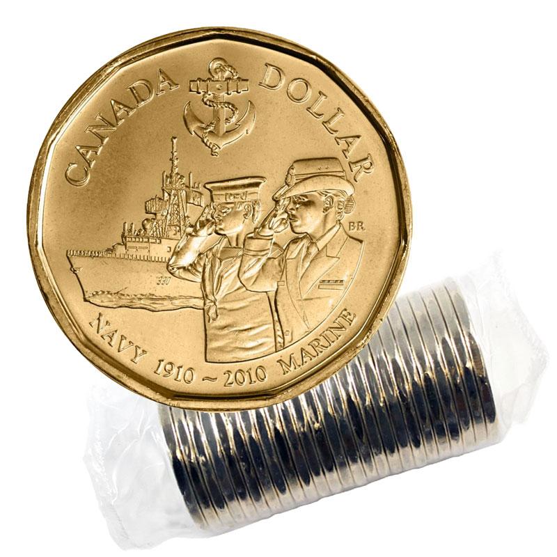 2010 Canada Navy Dollar Graded as Brilliant Uncirculated From Original Roll
