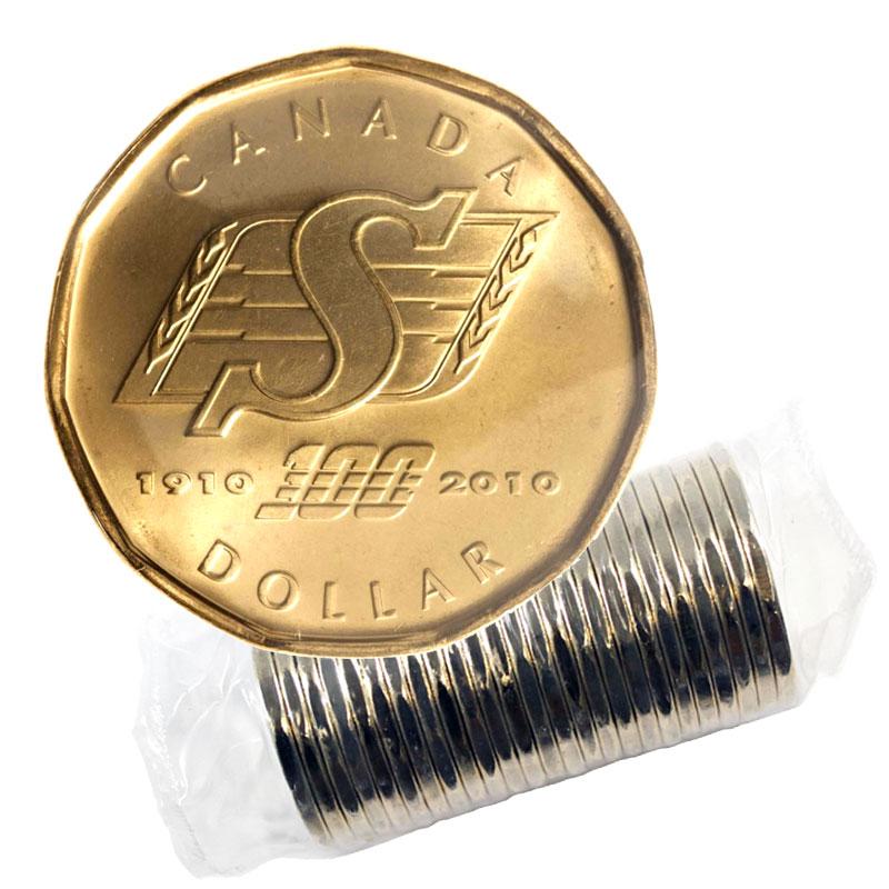 Canada 2010 $1 Coin Saskatchewan Roughriders Rare BU Coin.