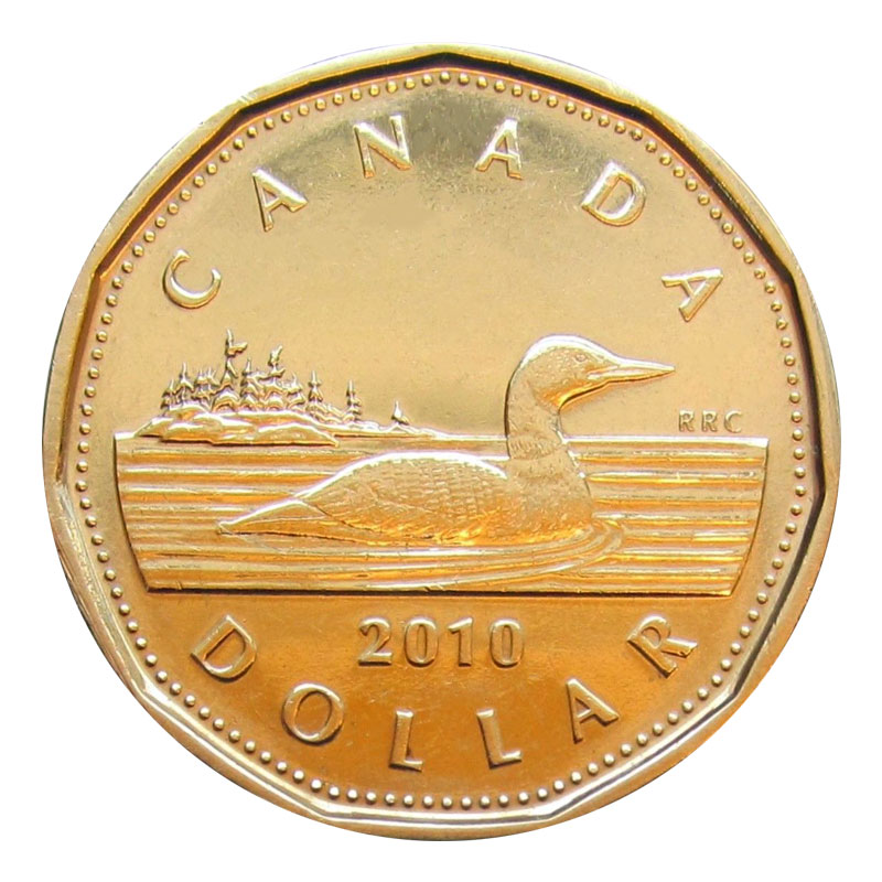 Brilliant Uncirculated 2012 Canada Lucky 1 Dollar From Mint/'s Roll