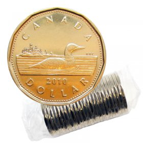 2010 Canadian $1 Common Loon Dollar Original Coin Roll