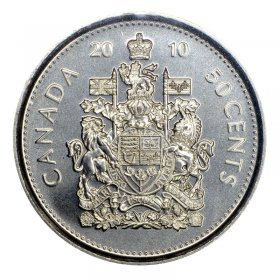 2010 Canadian 50-Cent Coat of Arms Half Dollar Coin (Brilliant Uncirculated)
