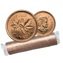 2010 NON-MAGNETIC Canada 1 Cent Small, Penny Original Coin Roll