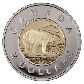 2011 Canadian $2 Polar Bear Toonie Coin (Brilliant Uncirculated)