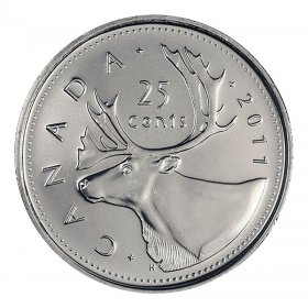 2011 Canadian 25-Cent Caribou Quarter Coin (Brilliant Uncirculated)