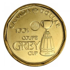 2012 Canadian $1 100th Grey Cup CFL Commem Loonie Dollar Coin (Brilliant Uncirculated)