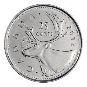 2012 Canadian 25-Cent Caribou Quarter Coin (Brilliant Uncirculated)