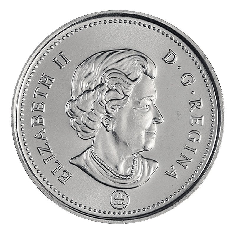2012 CANADA 25¢ CARIBOU BRILLIANT UNCIRCULATED QUARTER