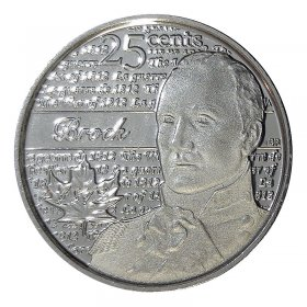 2012 Canadian 25-Cent Heroes of 1812: Sir Isaac Brock Non-coloured Quarter Coin (Brilliant Uncirculated)