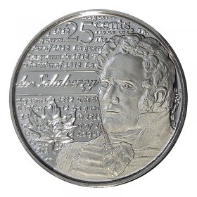 2013 Canadian 25-Cent Heroes of 1812: Charles-Michel de Salaberry Non-coloured Quarter Coin (Brilliant Uncirculated)