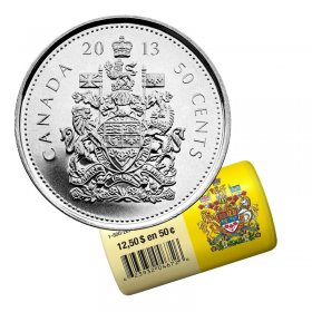 2013 Canadian 50-Cent Coat of Arms Half Dollar Special Wrap Coin Roll