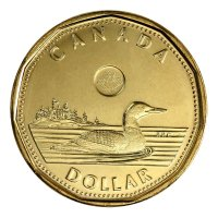 2014 Canadian $1 Common Loon Security Dollar Coin (Brilliant Uncirculated)