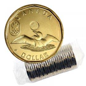 2014 Canadian $1 Olympic Lucky Loonie Dollar Original Coin Roll