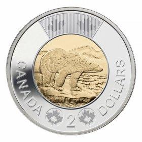 2014 Canadian $2 Polar Bear Toonie Coin (Brilliant Uncirculated)