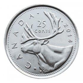 2014 Canadian 25-Cent Caribou Quarter Coin (Brilliant Uncirculated)