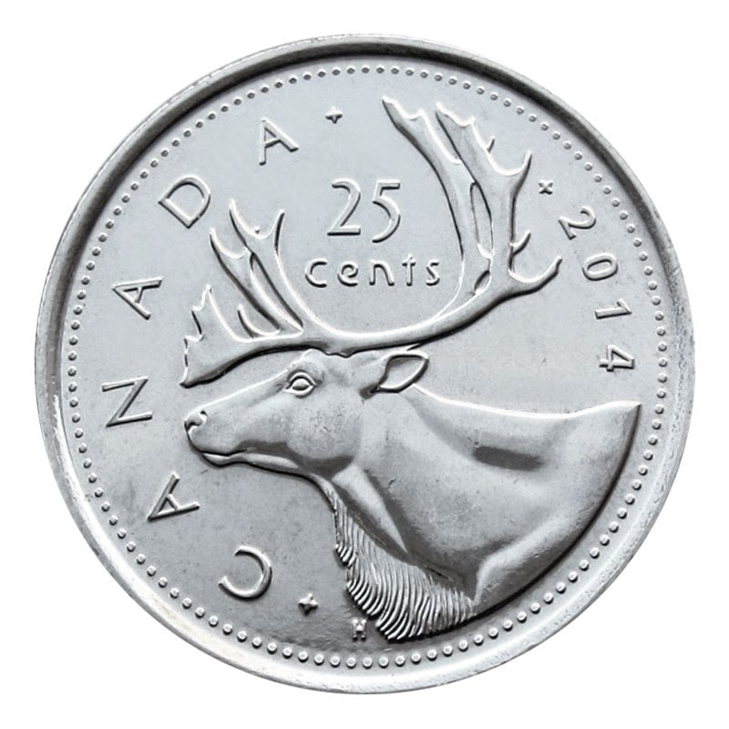 from a Mint Roll Details about  /Canada 2014 Quarter 25 Cents