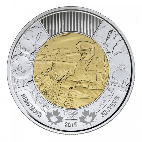 2015 Canadian $2 In Flanders Fields Remembrance Toonie Coin (Brilliant Uncirculated)