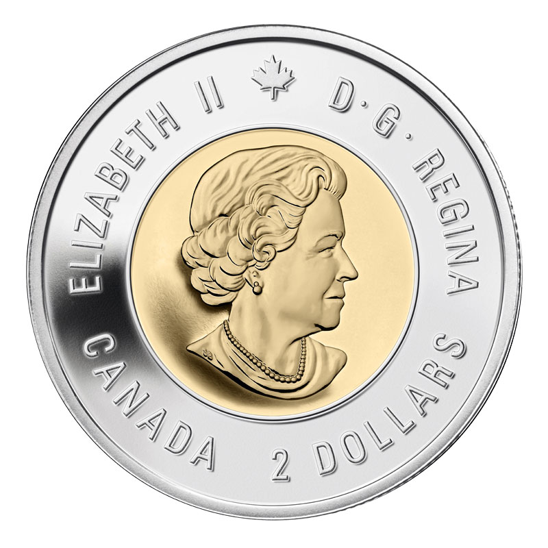 2015 $2 dollars Canada Remembrance In Flanders Fields Toonie Coin BU
