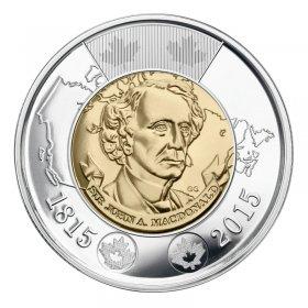 2015 (1815-) Canadian $2 Sir John A. Macdonald's Birth 200th Anniv Toonie Coin (Brilliant Uncirculated)