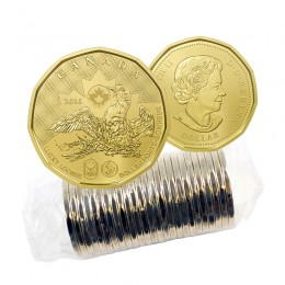 2016 Canadian $1 Olympic Lucky Loonie Dollar Original Coin Roll