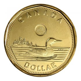 2016 Canadian $1 Common Loon Security Dollar Coin (Brilliant Uncirculated)