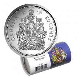 BU Canadian Half Dollar Canada 2014 Logo 50 cents Nice UNC from roll