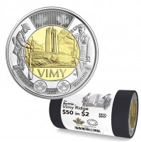 2017 Canada $2 The Battle of Vimy Ridge Special Wrap Roll