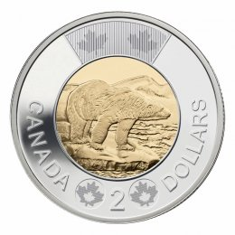 2017 Canadian $2 Polar Bear Toonie Coin (Brilliant Uncirculated)