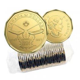 2017 (1917-) Canadian $1 Toronto Maple Leafs® 100th Anniv Loonie Dollar Original Coin Roll