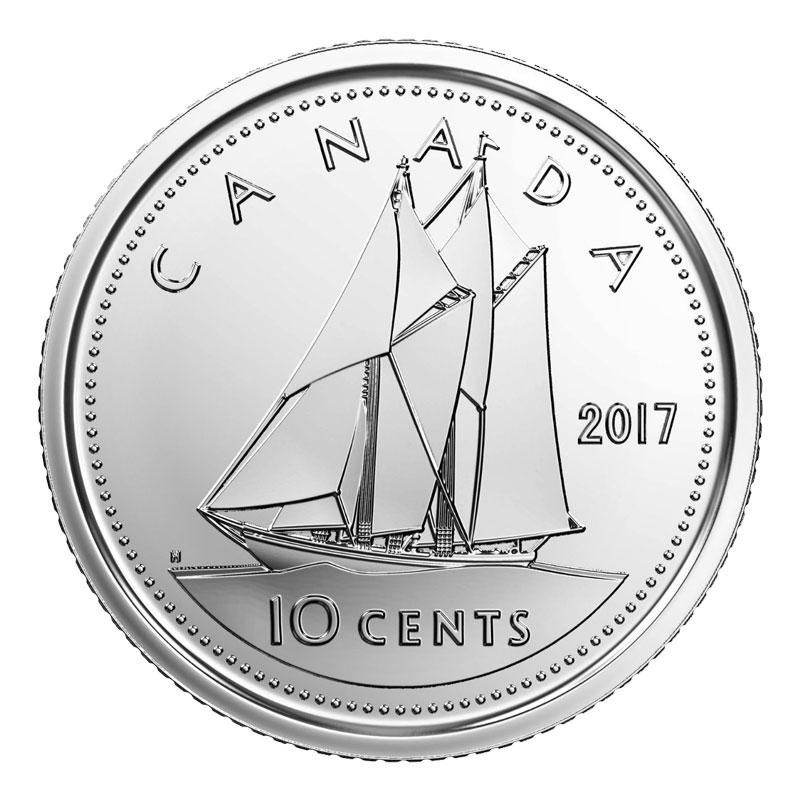 UNC From set roll CANADA 2017 New 10 cents NO Circulation ORIGINAL BLUE NOSE