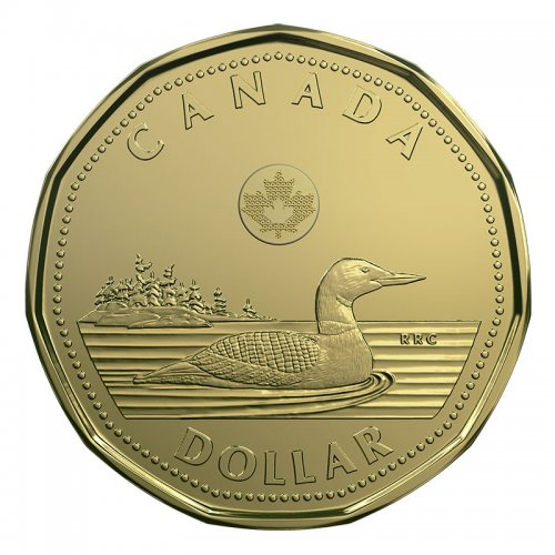 2018 Canadian 1 Common Loon Dollar Coin Brilliant Uncirculated
